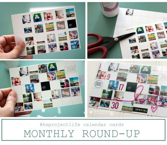 Calendar Cards #hsprojectlife @MaggieWMassey for @HeidiSwapp