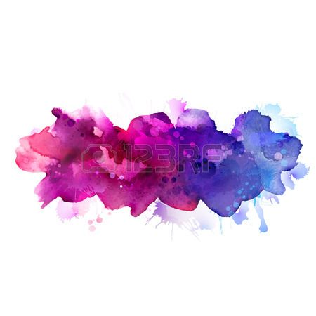 Stock Vector Paint Background Watercolor Watercolor Galaxy