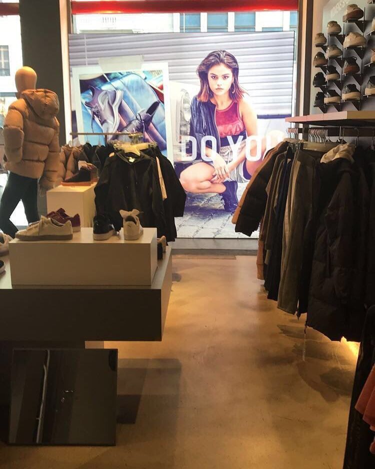 Images of Selena Gomez in Puma Stores in Milan Italy ...