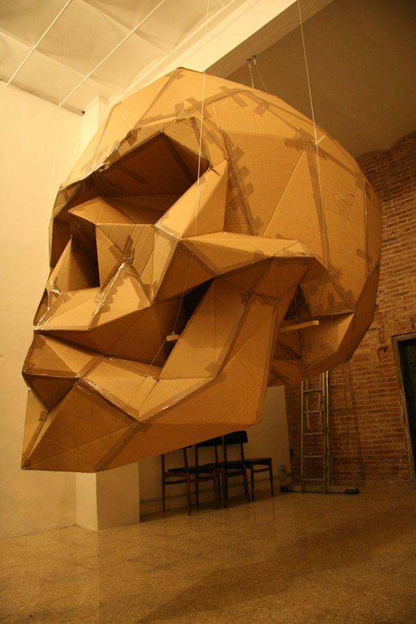 Folding Cardboard Skull Streetart Skull Skullsforchange