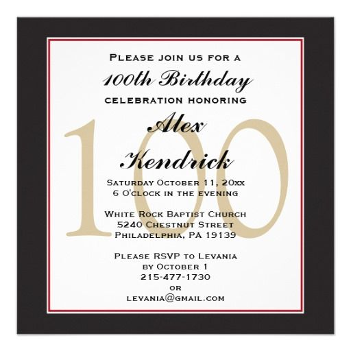 100th centennial birthday invitation 100th birthday party 100th centennial birthday invitation filmwisefo