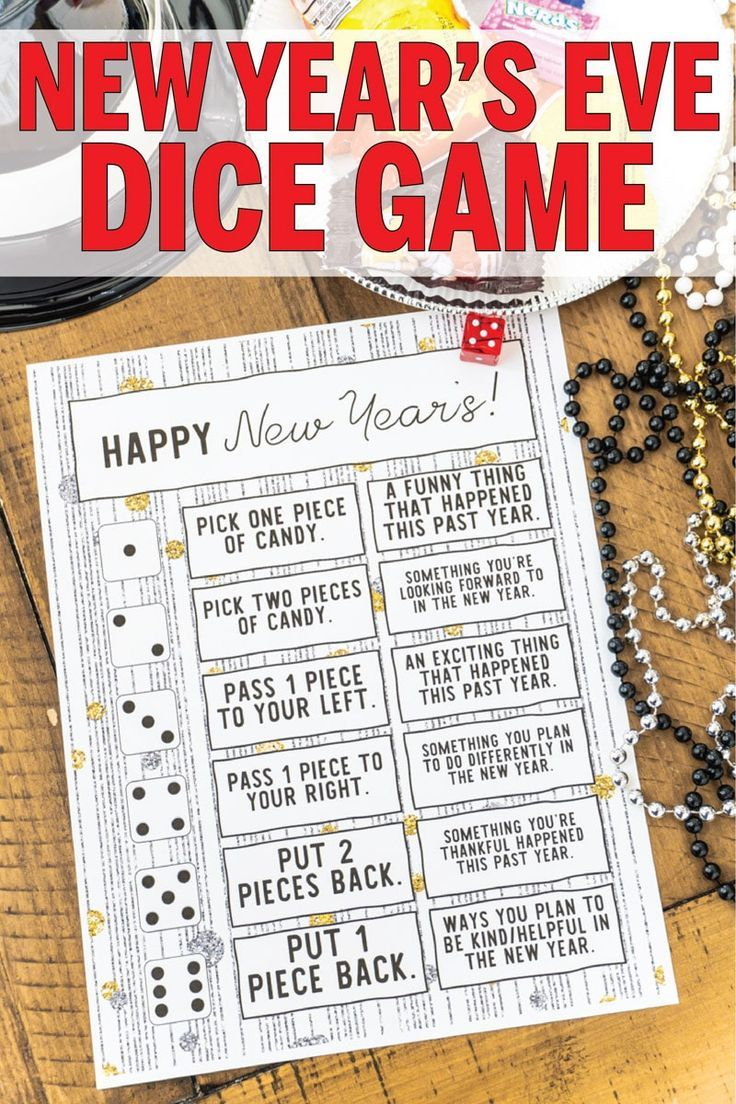 Free Printable New Year's Eve Dice Game - Play Party Plan ...