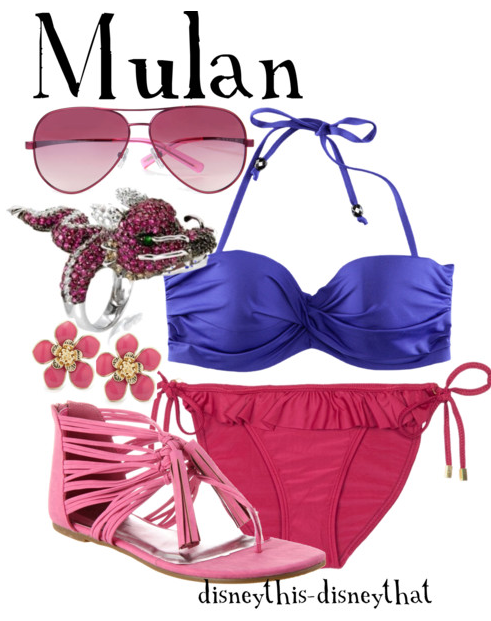 8c7f4b6373 Mulan Swimsuit | Disney inspired Swimsuits in 2019 | Disney outfits ...