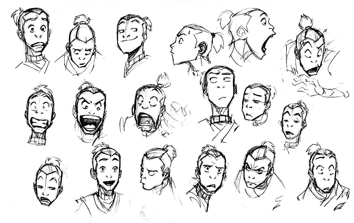 Avatar: The Last Airbender #Sokka #expression Sketches