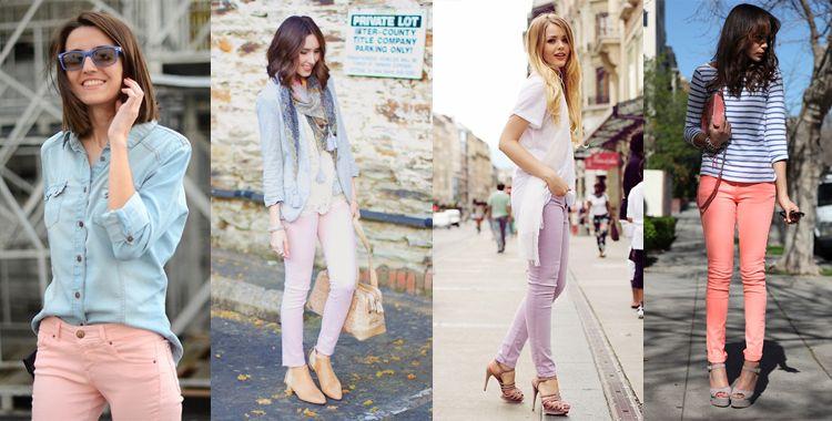 10 ways to wear pastel jeans this spring