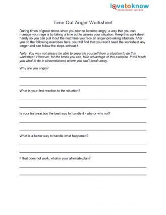 Free Anger Worksheets | Worksheets, Exercises and Anger management