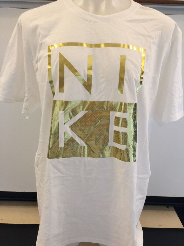 a0c834b9a5 NIKE MODERN WHITE GOLD SHORT SLEEVE GRAPHIC TEE T SHIRT MENS XX LARGE NWT   fashion  clothing  shoes  accessories  mensclothing  shirts (ebay link)