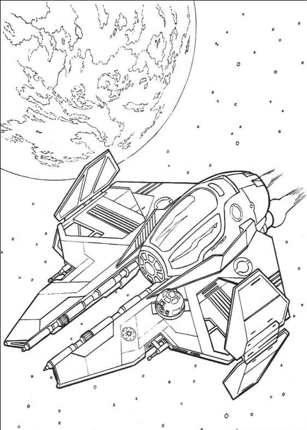 Coloring Pages Of Star Wars Ship 5