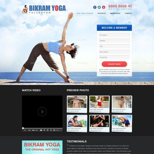 Bikram Yoga Fullerton Needs A New Website Design Portfolio Website Design Logo Branding Identity Portfolio Design