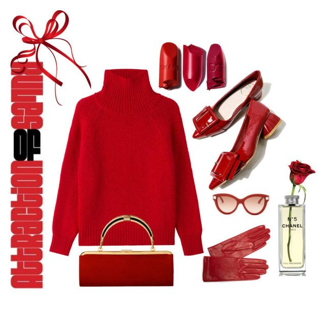 """RED SPORT"" by nurinur ❤ liked on Polyvore featuring Vanessa Bruno, Carolina Amato, Valentino, Balmain and Chanel"