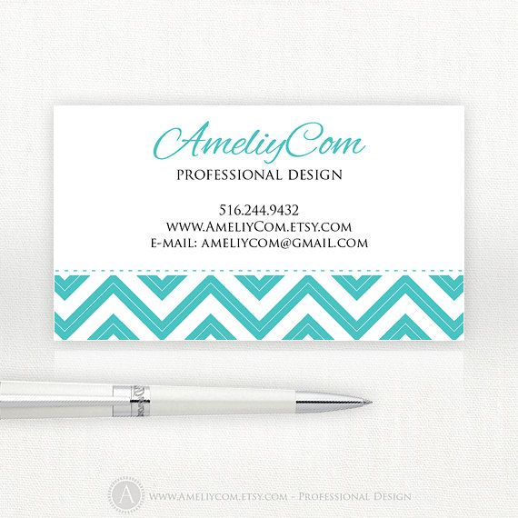 Printable business cards teal chevron instant download pdf etsy printable business cards teal chevron instant download pdf etsy business card editable custom premade design tiffany colourmoves Gallery