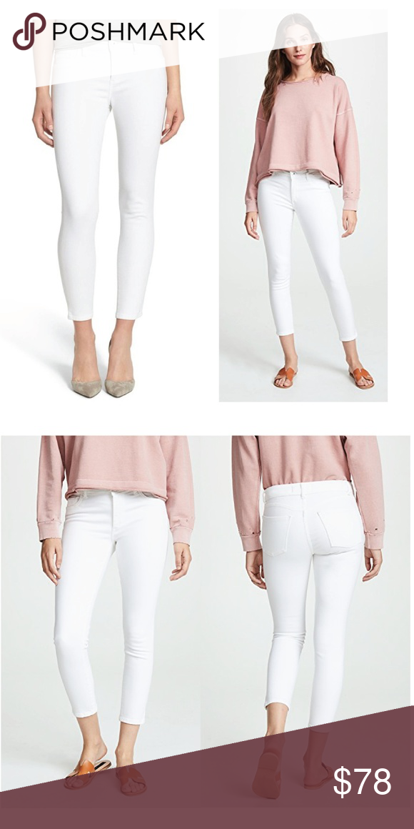 DL1961 Florence Instasculpt Cropped Skinny Jeans in Porcelain White $178