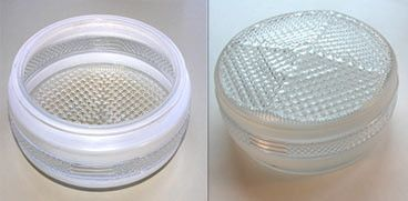 Frosted Trim Glass Light Fixture Cover
