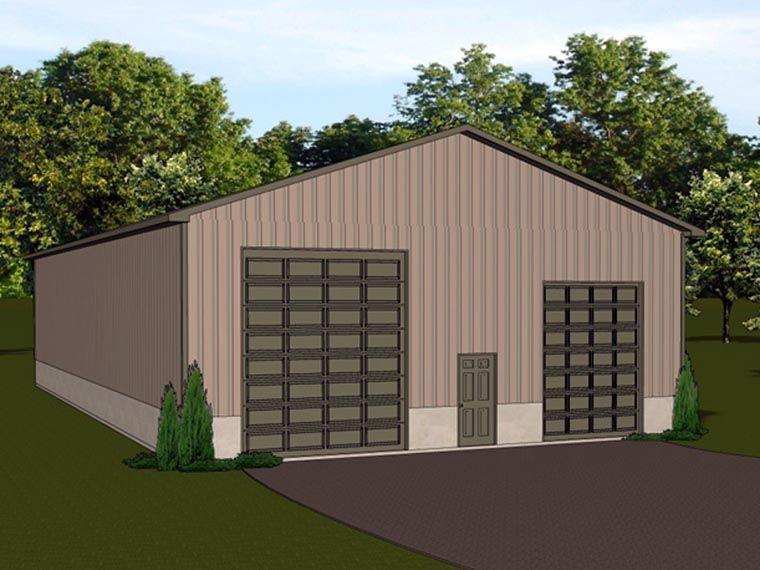 4 Car Garage Plan Number 50625 Rv Storage Barn Plan Overhead Garage Door 10x10 Shed Plans