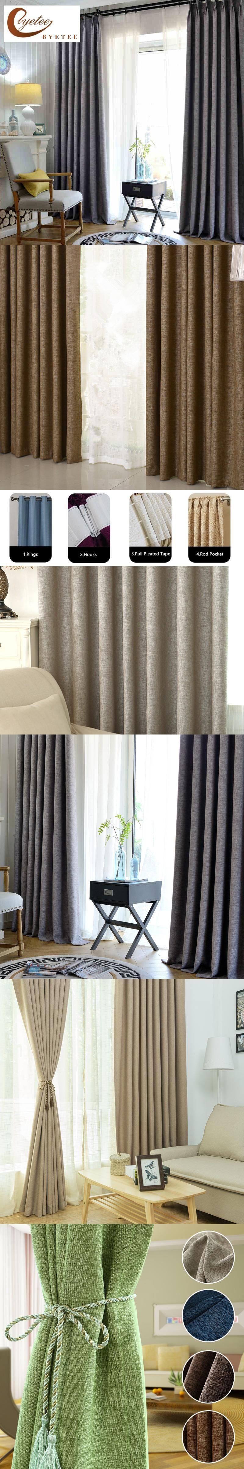 3 window bedroom curtains  byetee blackout linen cotton linen modern curtain fabric curtain