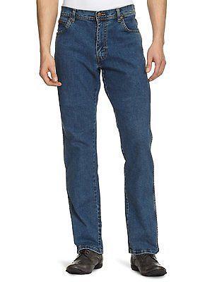 Wrangler Texas Stretch Regular Fit Denim Jeans New Men/'s Blue Darkstone