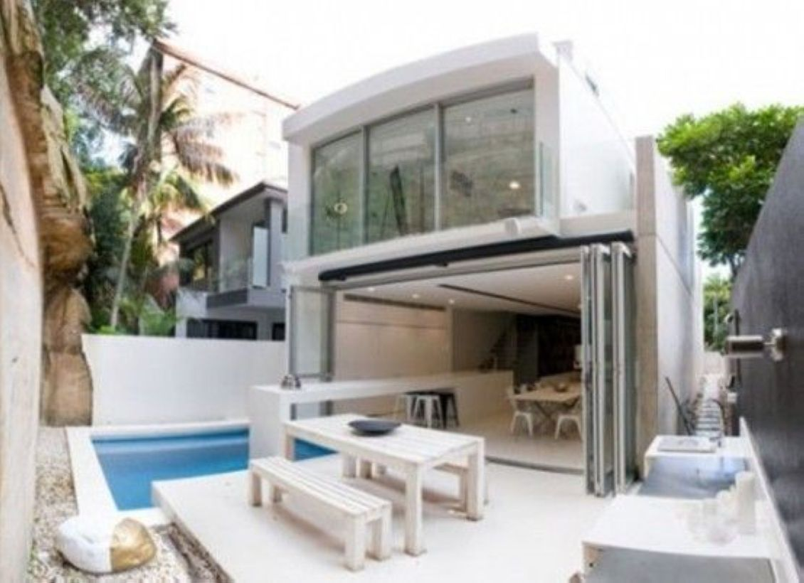 minimalist pool design ideas for small terraced houses also good decor home terrace with unique ceramics rh pinterest