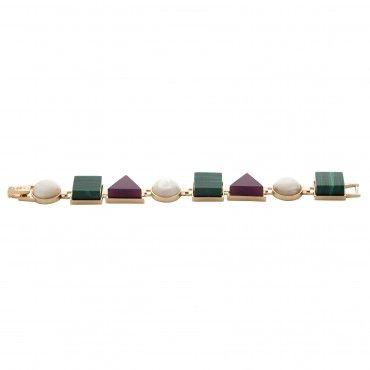 Multi Stone Bracelet by Eshvi, Designer Fashion Collections Jewellery, Kabiri Jewellery Store Online