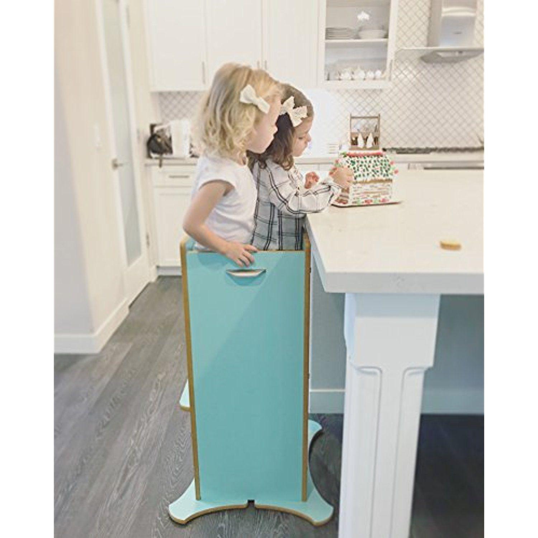 Little Helper FunPod Kitchen Step Stool with Adjustable Height ...