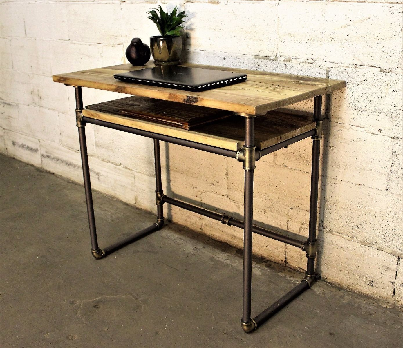 industrial age furniture. Amazon.com: Berkeley Industrial Vintage Home Office Mid Century Writing Computer Pipe Desk With Age Furniture