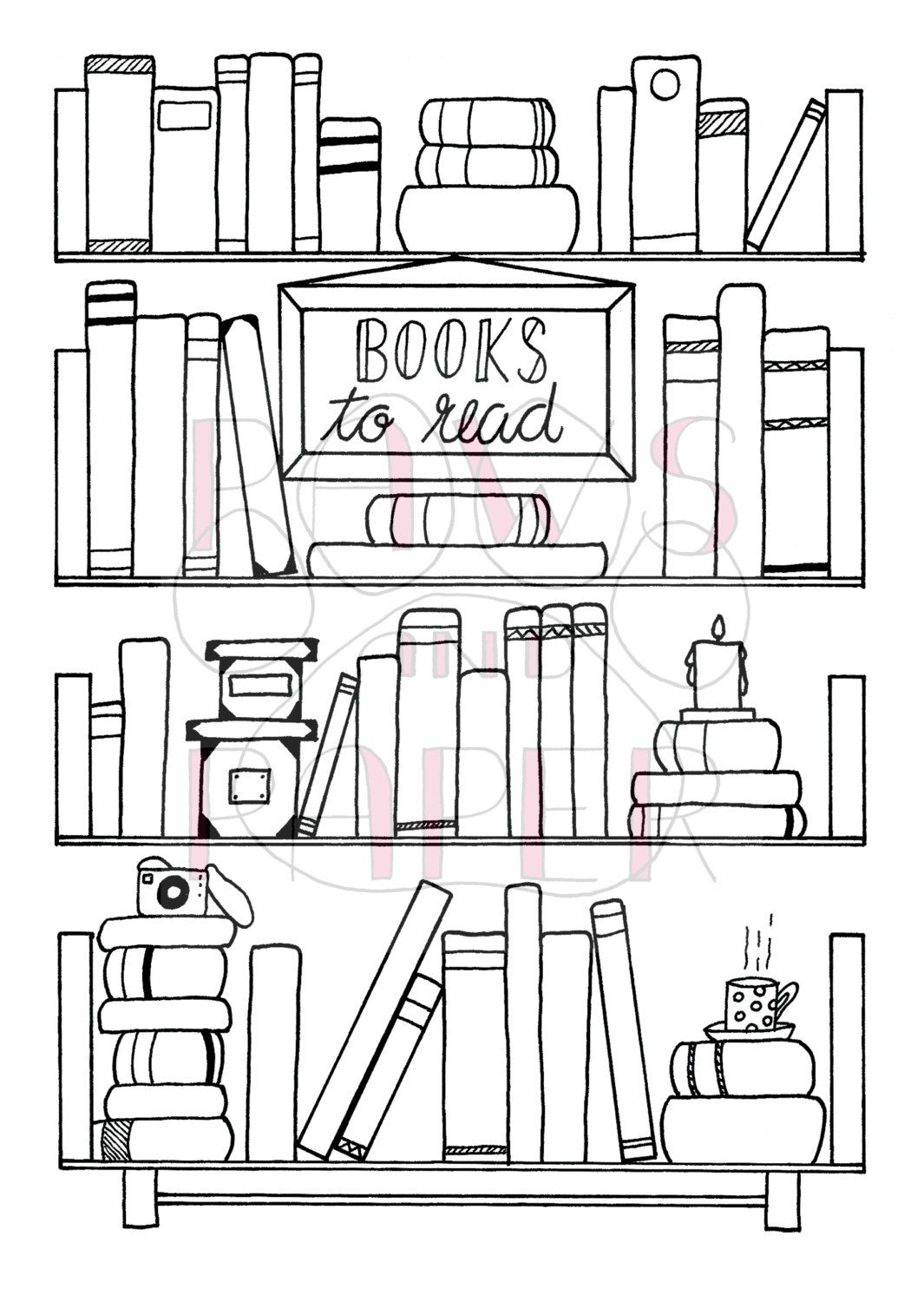 Books to read printable for your planner or Bullet Journal
