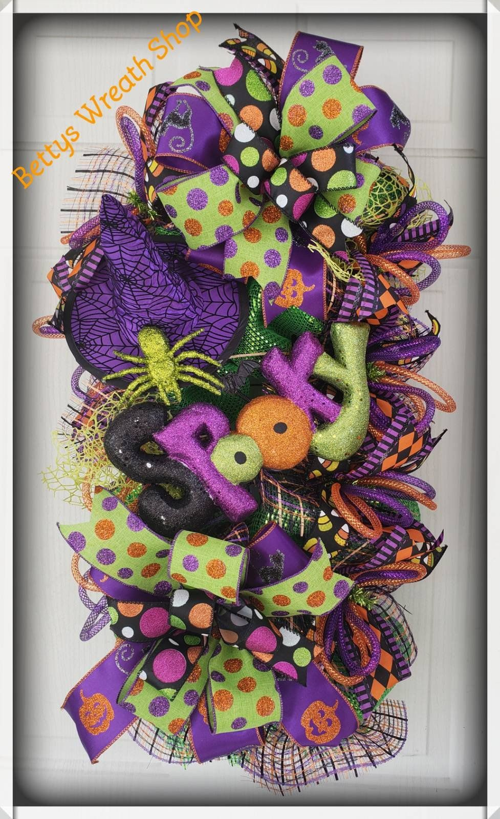 Halloween Mesh Wreaths, Whimsical Mesh Wreath, Halloween Deco Mesh - Whimsical Halloween Decorations