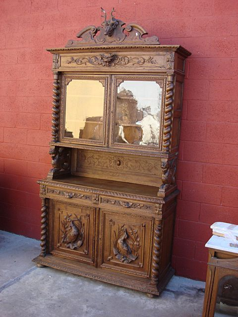 Antique Furniture French Antique Hutch Cabinet Sideboard Server Cupboard  French Antique Furniture. French antique furniture for sale   shop online   old plank