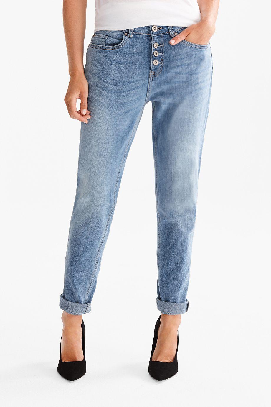 The Girlfriend Jeans Ropa Casual Pantalon Vaquero Vaqueros Azules