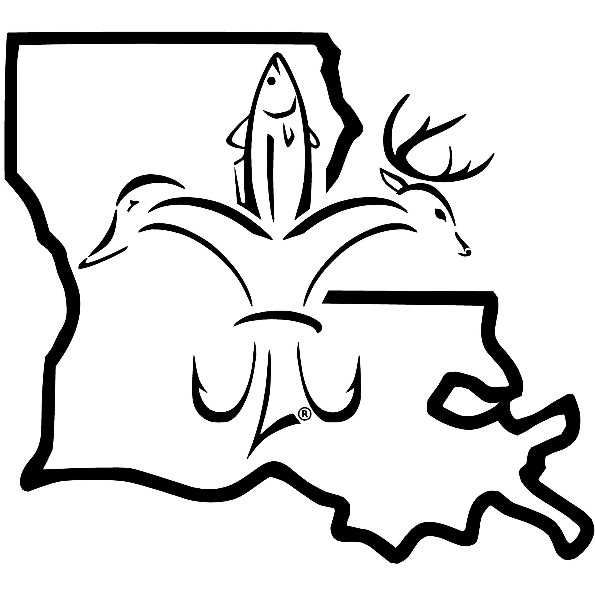 Louisiana Sportsman Decal | Cricut, Silhouettes and Fish