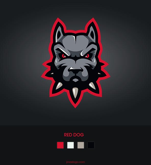 Red dog, sport mascot design, hope you like it :-) , pls ...  Red Dog Logo Brand