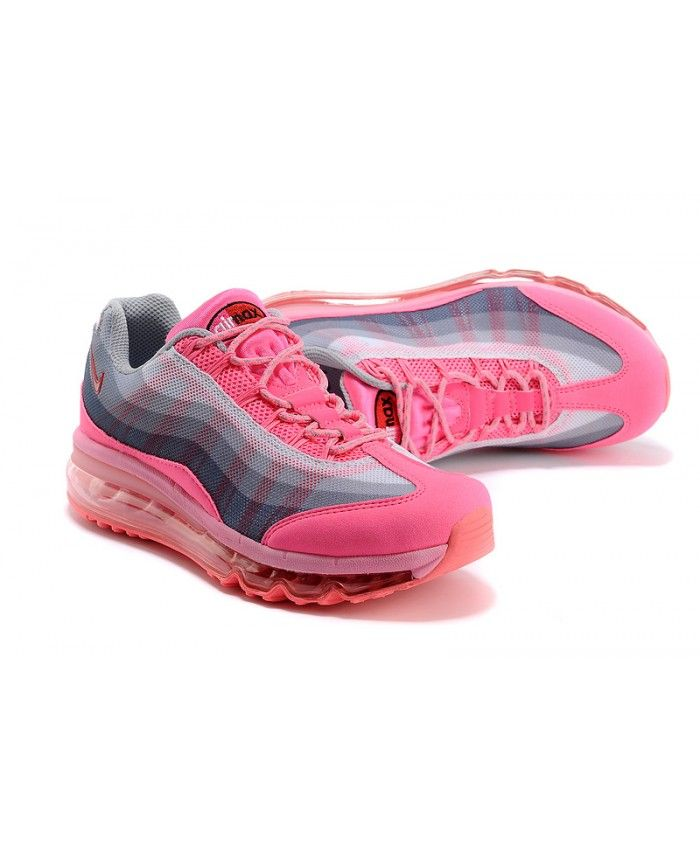 size 40 2eec7 55bc5 Nike Air Max 95 Hyper Pink Light Grey Trainer