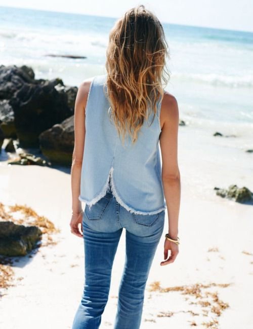 Beach days in denim