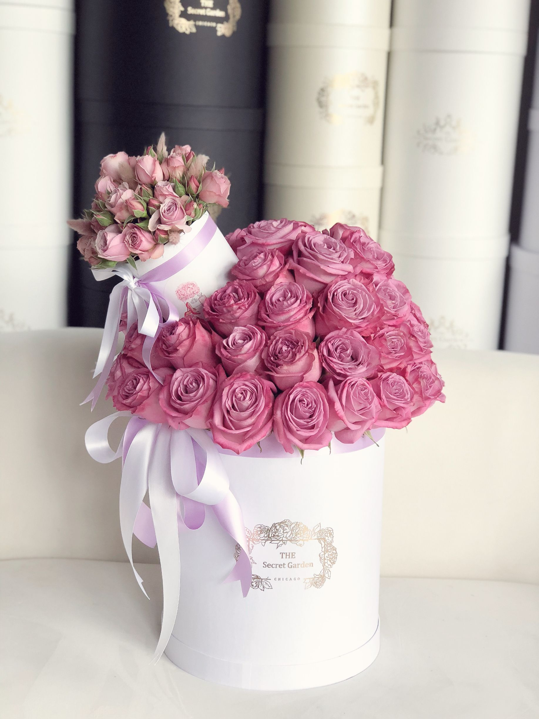 Birthday Wishes Flowers in Pinks /& Purples comes with decorated envelope