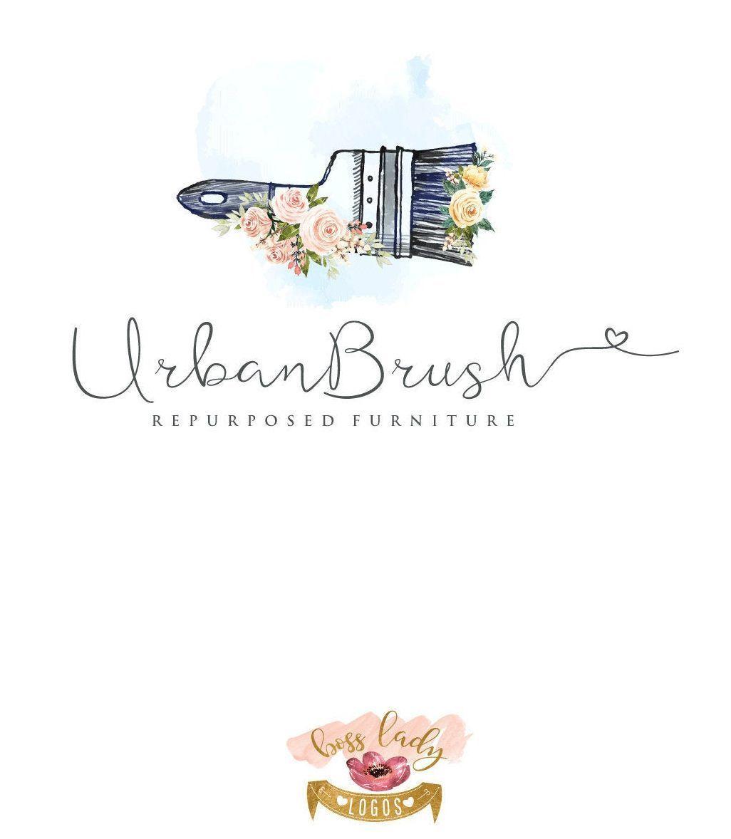 Paint Brush Logo Painting Logo Refurbished Furniture Logo Painter Logo Flora  Paint Brush Logo Painting Logo Refurbished Furniture Logo Painter Logo Floral Refinished Fur...