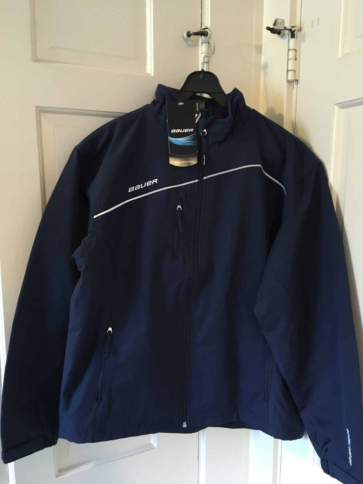 Clothing 159121 Bauer Hockey Navy Lightweight Warmup Jacket Size Junior Youth Xl Buy It Now Only 25 On Ebay Cl Warmup Jacket Jackets Lightweight Jacket