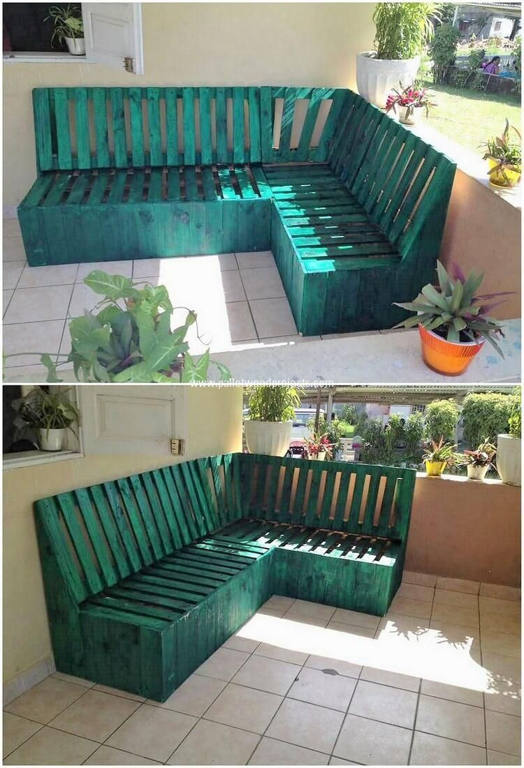 Having a creative wood pallet corner couch is a superb ...