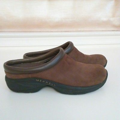 7b172831 Details about MERRELL Primo Patch Leather Clogs Loafers Slip-on ...