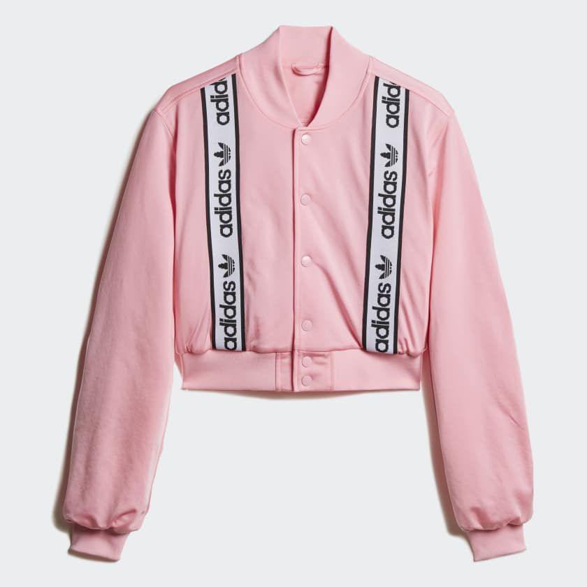 bb28c1bd87 adidas Cropped Bomber Jacket in 2019 | Fashion interests | Pink ...