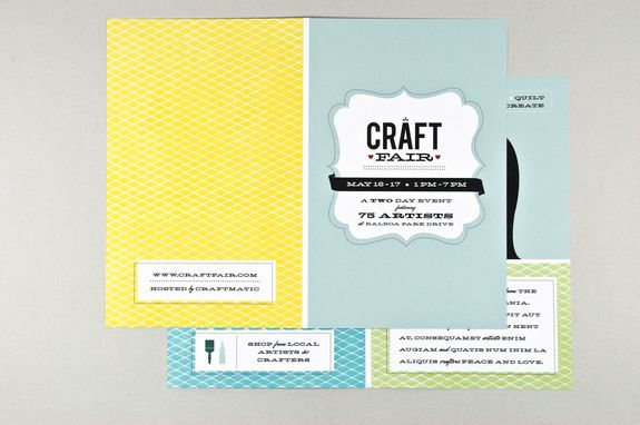 Retro Craft Fair Brochure Template - The classic colors, home-made - retro brochure template