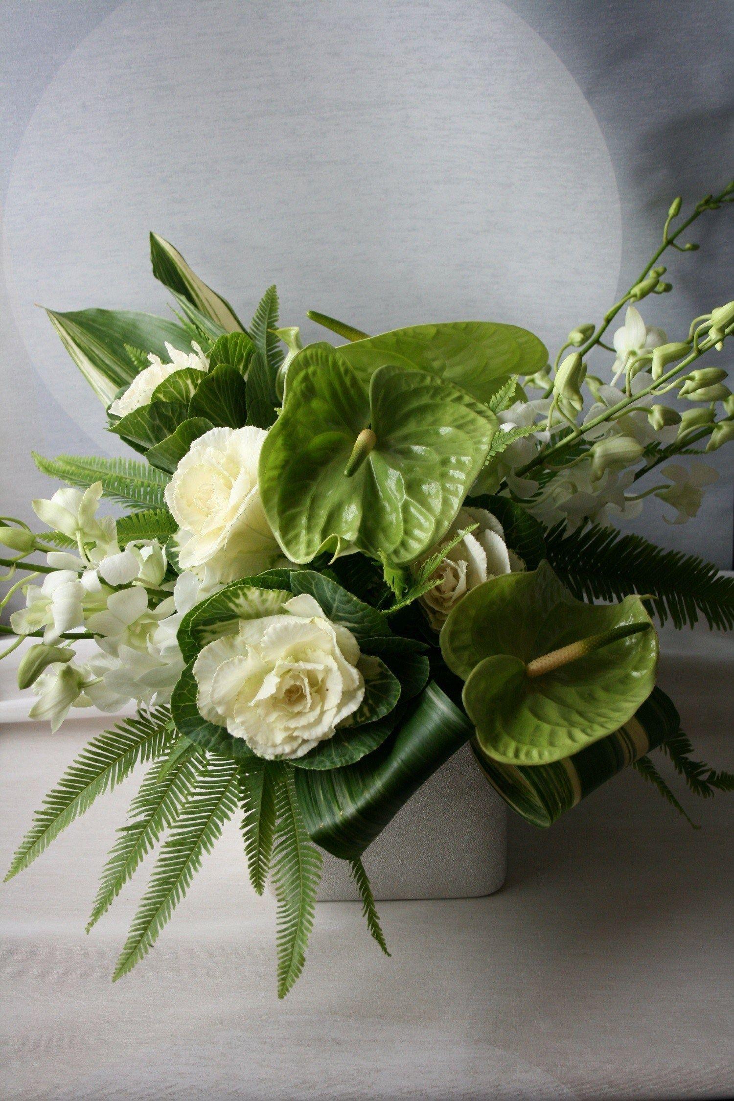 White And Green Flower Arrangements Anthurium Flower Arrangement Tropical Flower Arrangements Wedding Hydrangea Flower Arrangements Unique Flower Arrangements