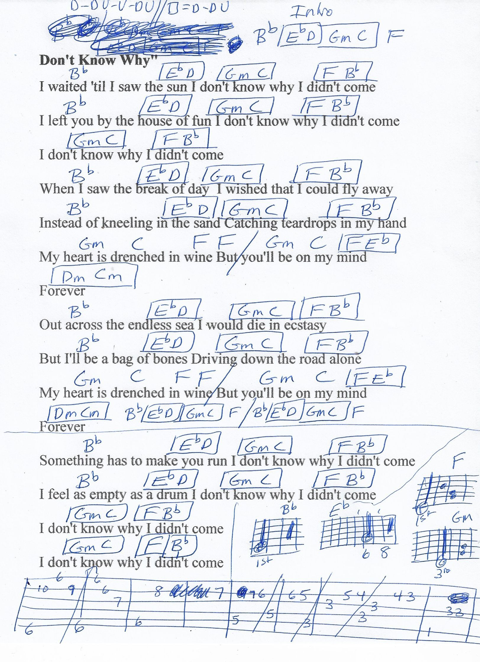 Don T Know Why Norah Jones Guitar Chord Chart Real Key In 2020 Guitar Chord Chart Norah Jones Guitar Chords