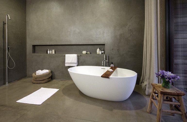 Betonlook tegels badkamer tg wonen woonmagazine ideeen