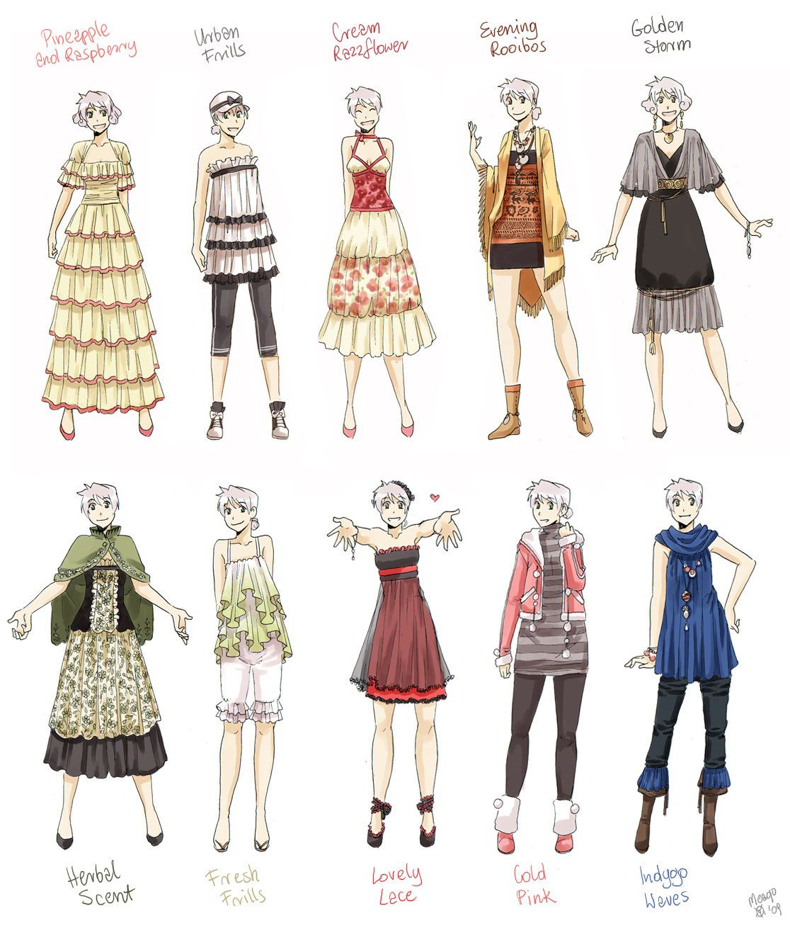 Various female clothes 7 by meago on DeviantArt Manga
