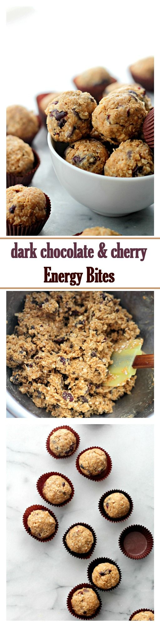 Dark Chocolate Cherry Energy Bites Recipe | Diethood