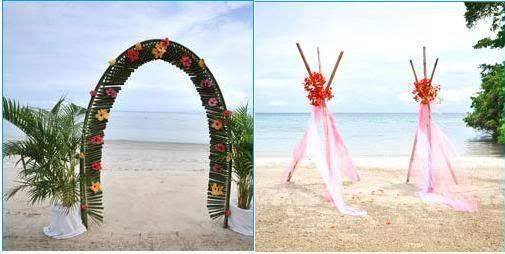 DIY Beach Wedding Arch