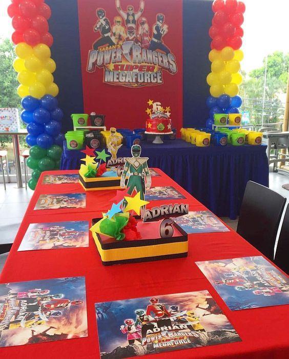 Power Ranger Cake Table