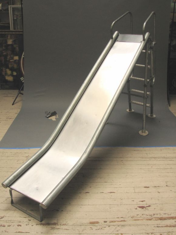 Galvanized Steel And Aluminum Playground Slide From A