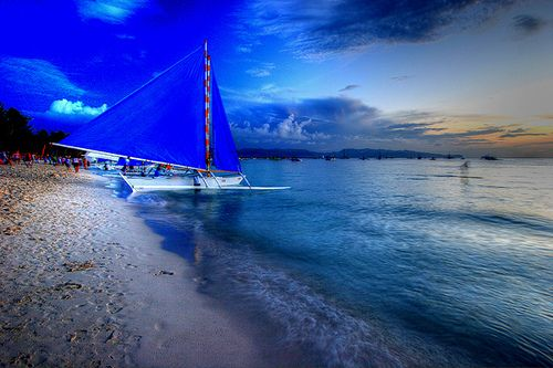 Boracay Beach Blues #Philippine Islands #YouShouldBeHere