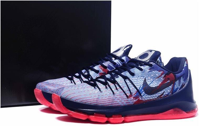 75527d807f77 Nike KD 8 Red Grey White Black Orange Red Shoes0
