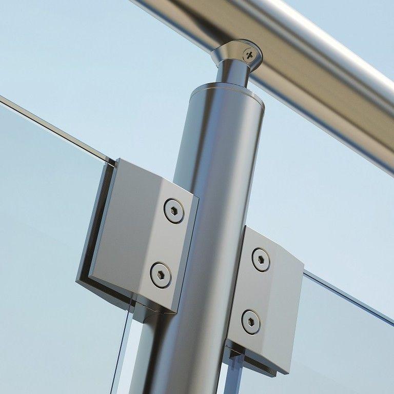 crystal line se compone de un perfil de aluminio inox y cristal que se utiliza para barandillas panormicas fachadas o de piscinas